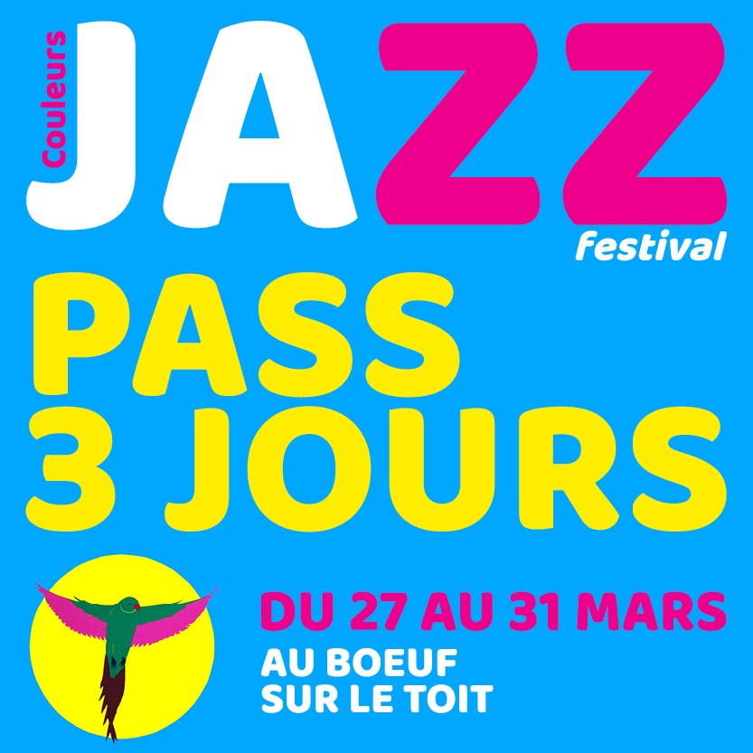 PASS 3 CONCERTS FESTIVAL COULEURS JAZZ 2019